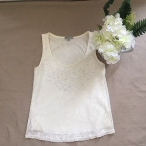 Charlotte Russe lace sleeveless top